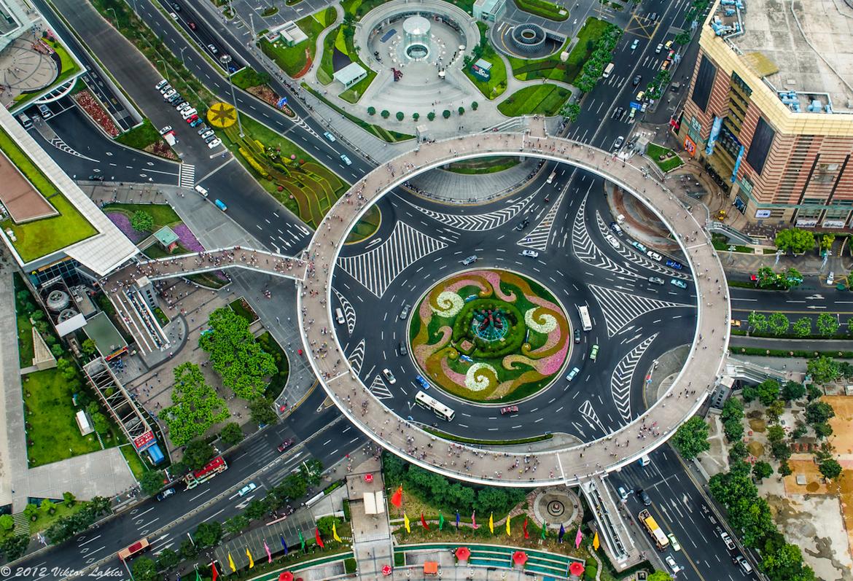 Shanghai China Lujiazui Bridge