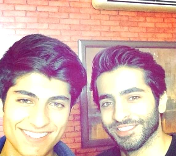 Pakistani actor Sheheryar Munawar Siddiqui with brother Asfandyar Munawar