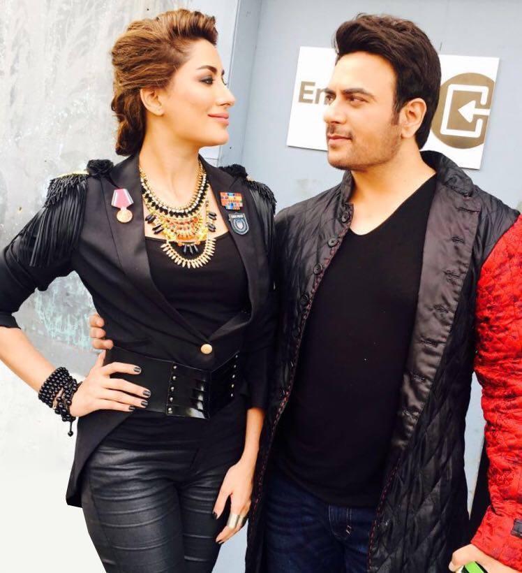 Shiraz uppal and Mehwish Hayat for Coke Studio Season 9