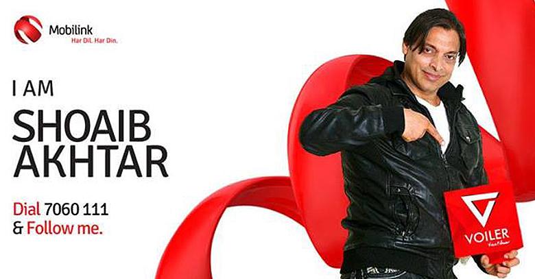 Shoaib Akhtar & Team Brings Mobilinks Voilers voice tweets