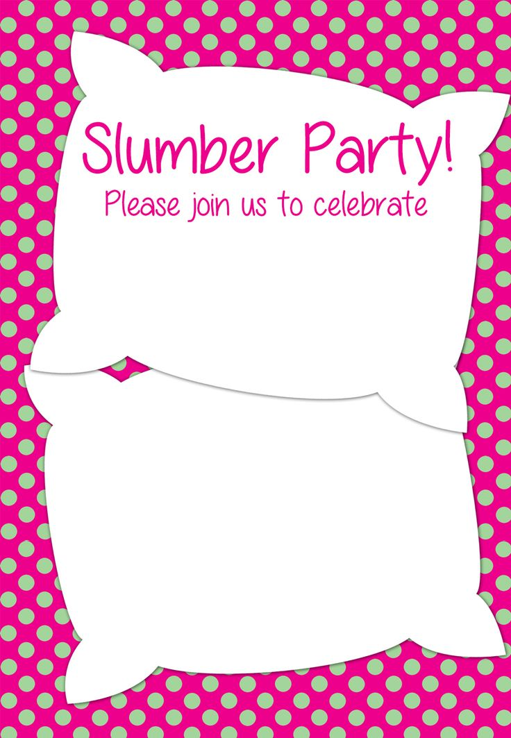 Slumber party Bridal shower cards