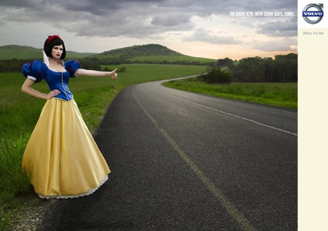 Snow white Volvo print ad