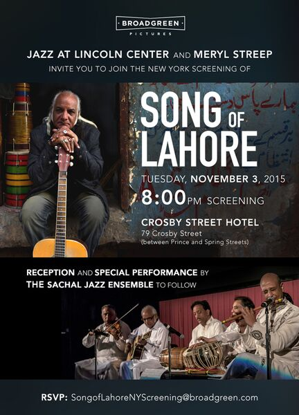 Song of Lahore special performance by The Sachal Jazz Ensemble