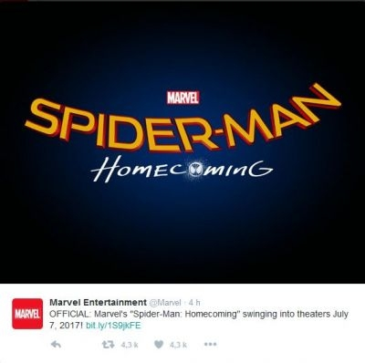 Sony have announced the official title of the upcoming Spider-Man movie as Spider-Man Homecoming