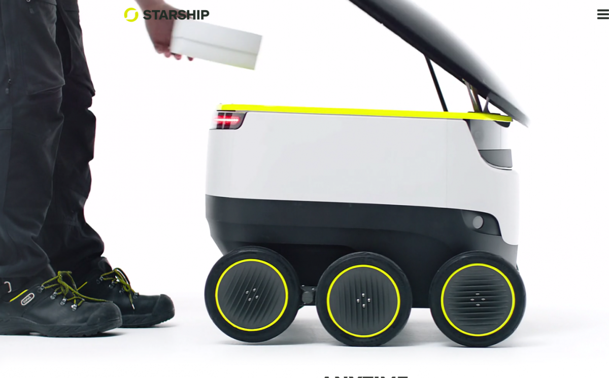 Starship technology Robot.Brandsynario