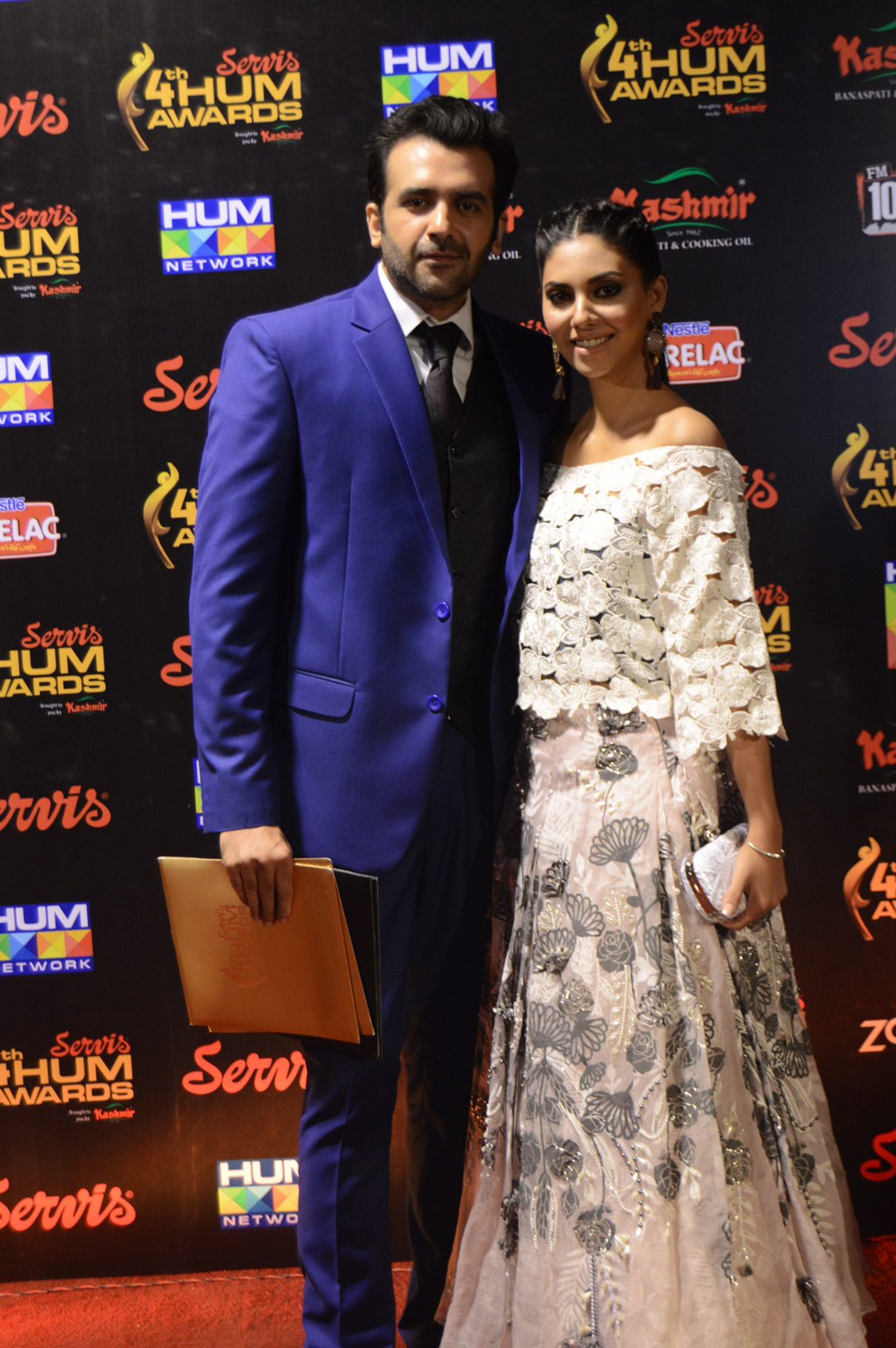 Sunita Marshal and Hassan Ahmed HUM Awards Red Carpet
