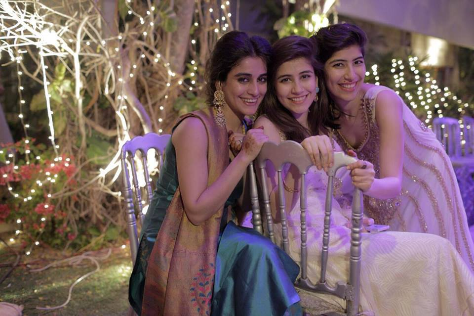 Pakistani actress Syra Shahroz with sisters Alishba and Palwasha