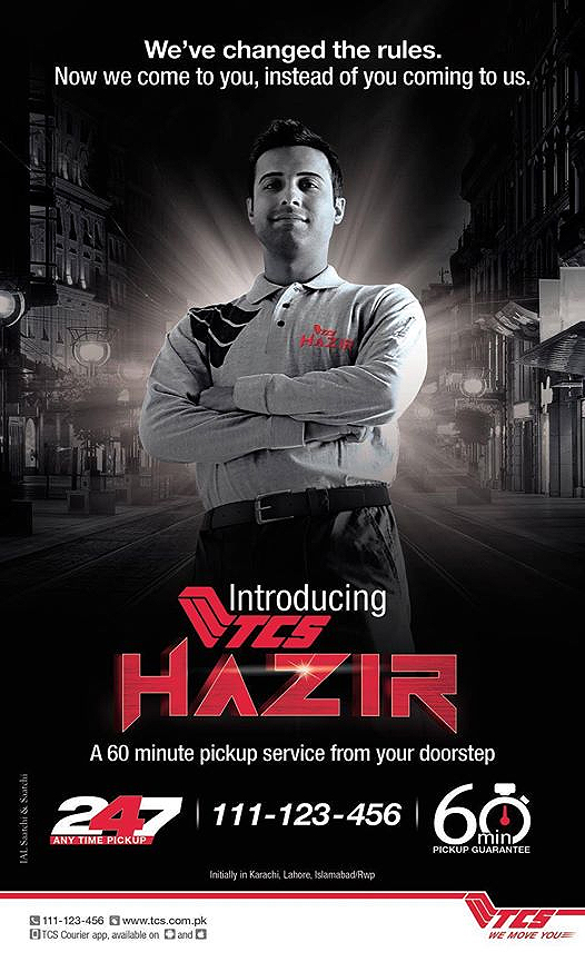 TCS Introduced a 247 TCS Hazir Service Campaign in Pakistan