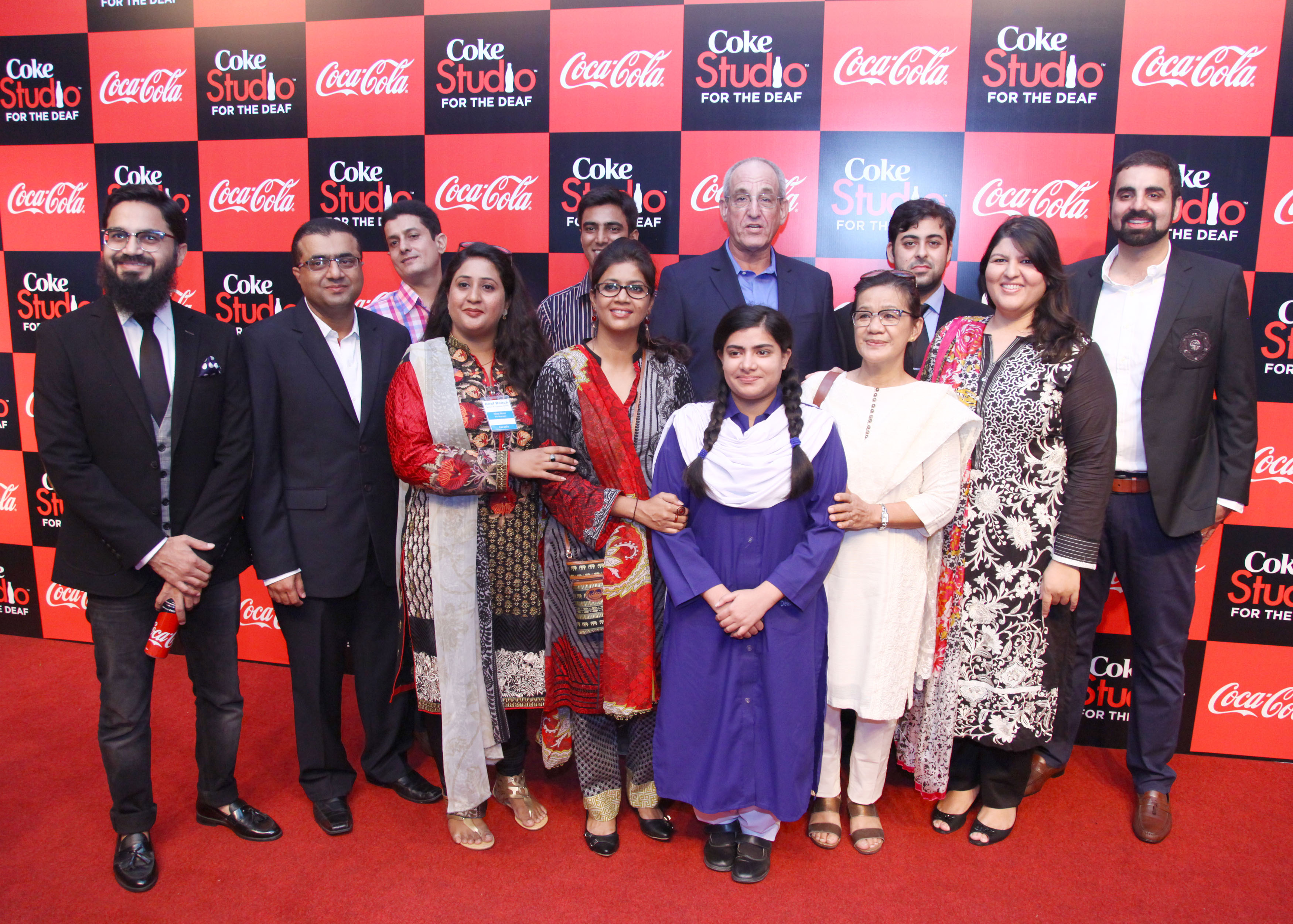 Team Coca-Cola Pakistan with students and management of Deaf Reach School at the launch event of Coke Studio for the Deaf community#CokeStudio9