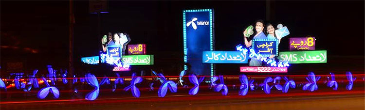 Telenor Karachi Offer OOH Campaign at Karasaz Road Karachi