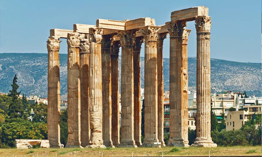 Temple-of-Olympian-Zeus,-Athens