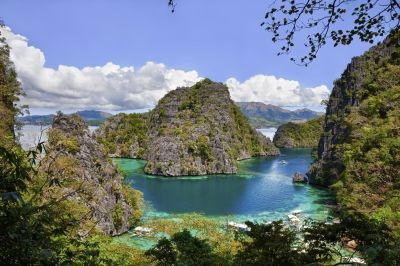 The Blue Lagoon on Coron Island in the Philippines