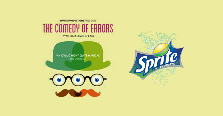 The Comedy of Errors brought to you by Sprite Productions