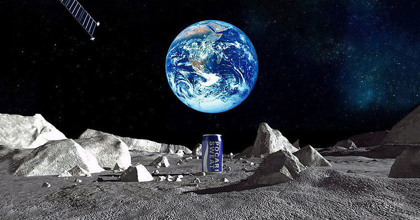 The First Ever Product Placement on Moon