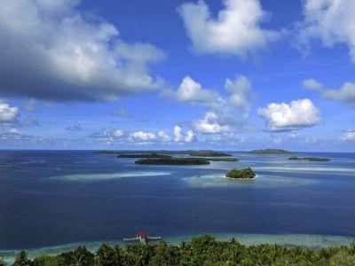 The island of Halmahera in the Maluku Islands.