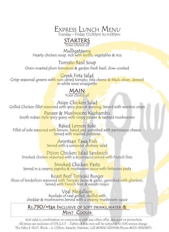 The Patio Price Menu Location Brandsynario - The Patio Restaurant Karachi Menu - Patio Ideas