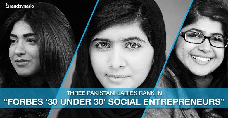 Three Pakistani Women Ranks in Forbes Top Thirty Entrepreneurs Aged Under 30