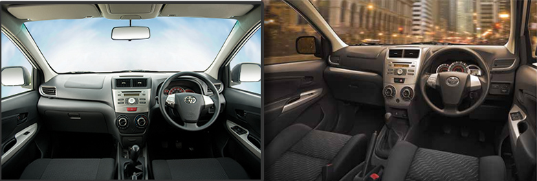 Toyota Avanza's interior after the update (Pictured Right) Toyota Avanza Interior before the update (Pictured Left) PHOTO Courtesy: PakWheels