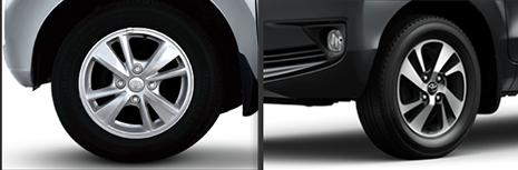 Rims of Face-lifted Toyota Avanza (Right) and Pre-face-lift Avanza (Left) PHOTO Courtesy: PakWheels