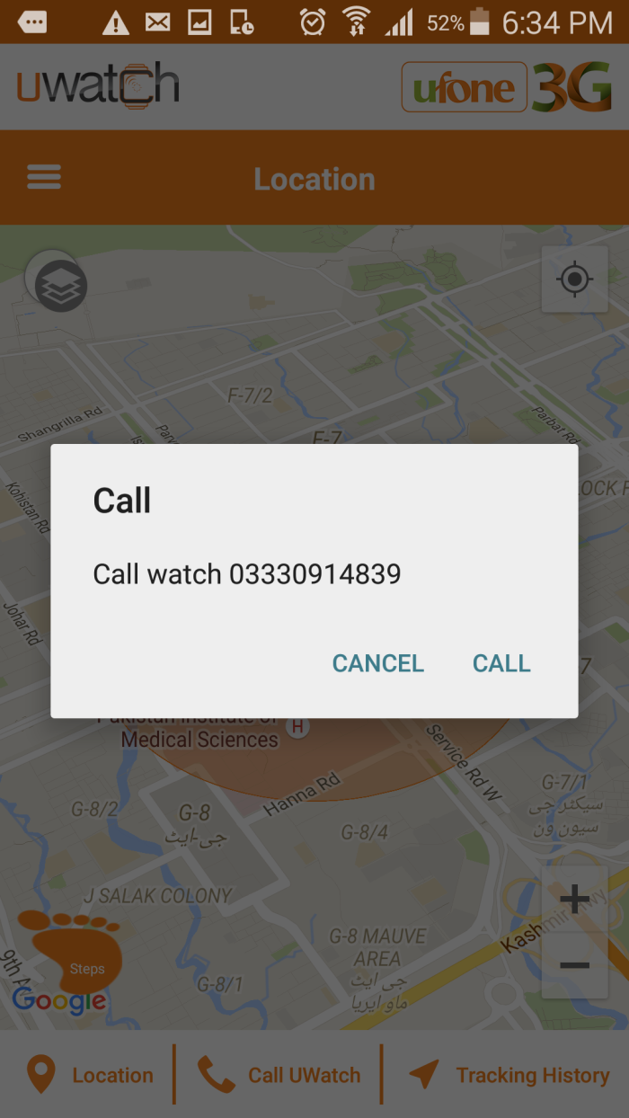 Ufone U Watch-Two Way Calling.Brandsynario