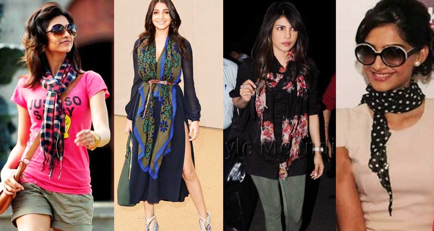 Indian celebrities and how they carry scarves stylishly