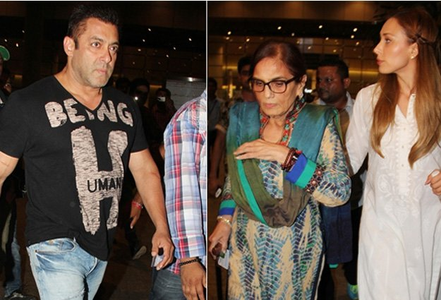 Salman Khan spotted at Airport with Lulia Vantur