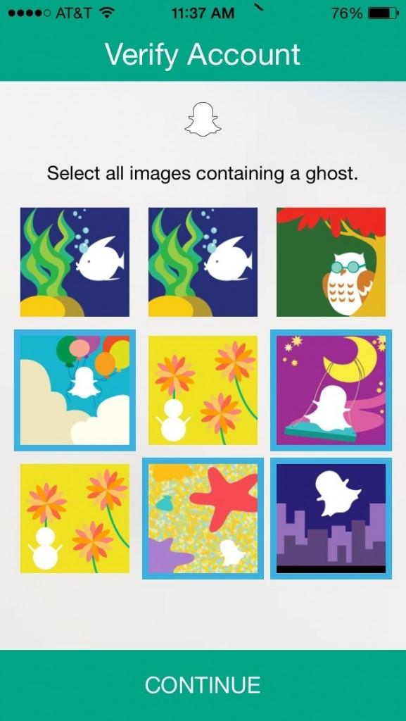 Verify identity on snapchat