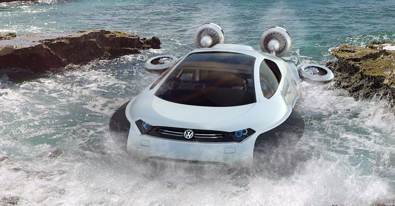 Volkswagen Aqua The Concept Car That Travels Through Water Deserts