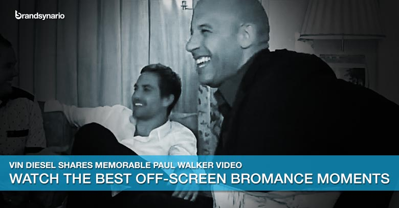 Watch Vin Diesels Personal Video with Paul Walker