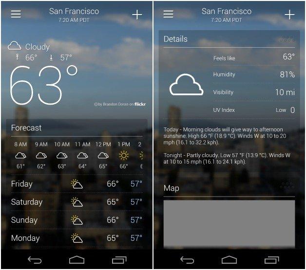 Yahoo weather.Brandsynario