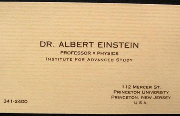 albert einstein business cards