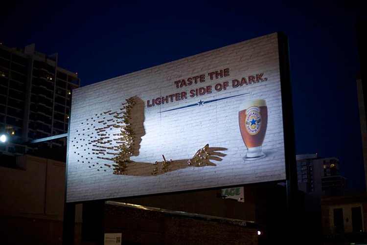 Newcastle Brown Ale Shadow Art