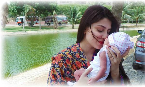 Mahira Khan with Son