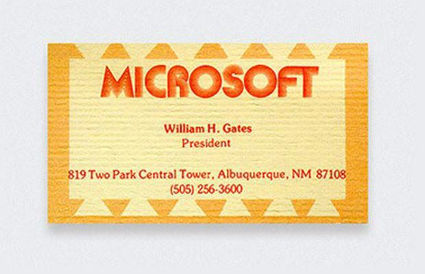 bill gates business card