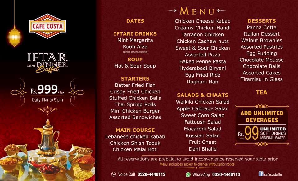 Iftar deals mm alam road