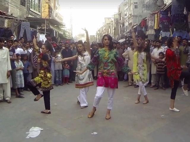 female flashmob