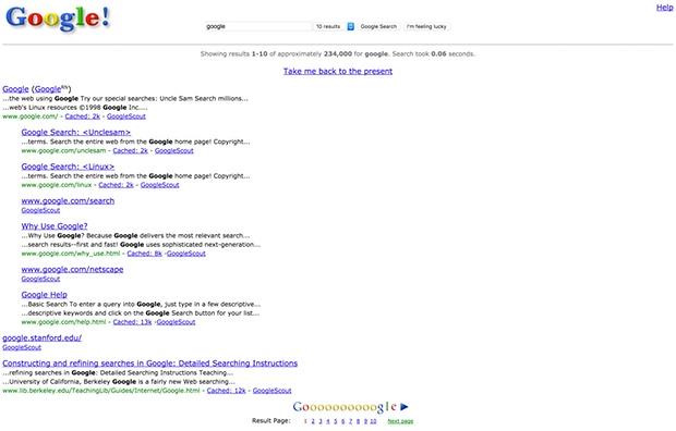 google in 1998.brandsynario