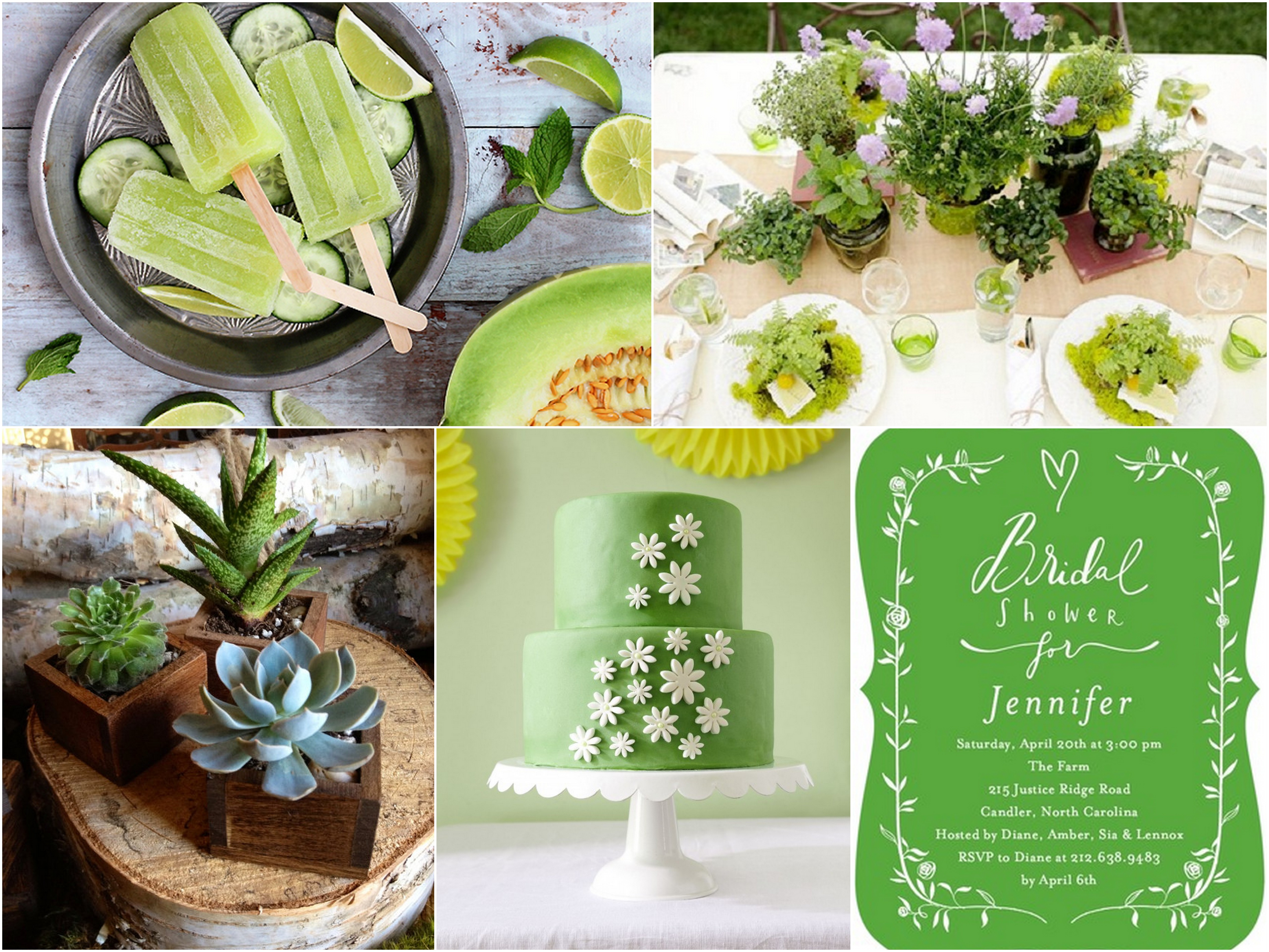 green-bridal-shower