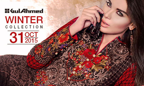 c226119b37 Gul Ahmed Winter Collection 2015 Feat. Mehwish Hayat   Humaima ...