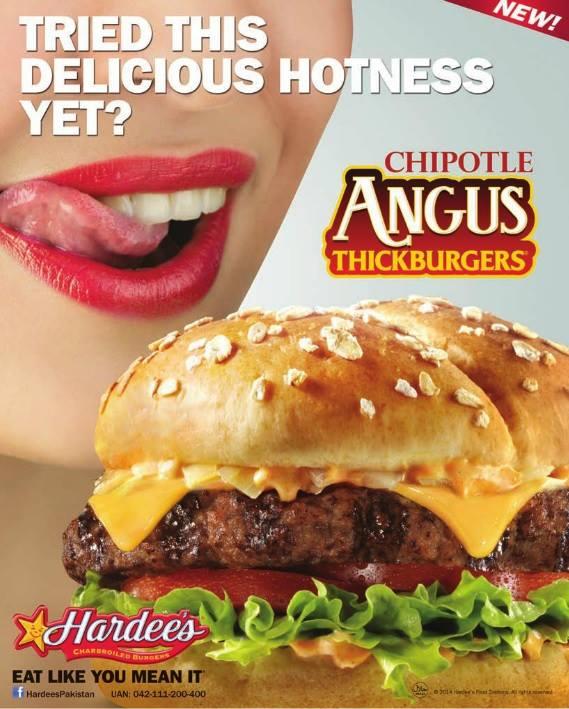 hardees print ad 1