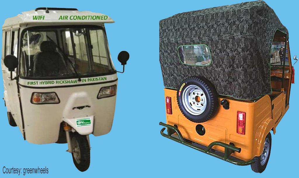 Green-Wheels-Hybrid-Rickshaw