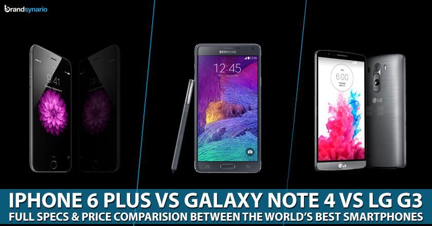 iPhone 6 vs Samsung Note 4 vs LG G3