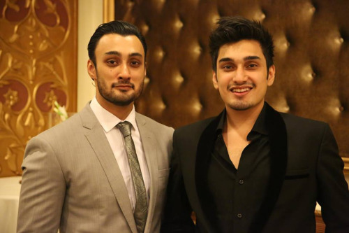 Pakistani singer Umair Jaswal with brother Umair Jaswal