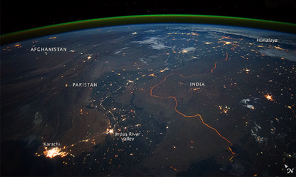 Nasa Captures Karachi City Of Lights Image From Across
