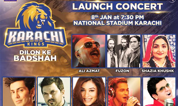 Karachi Kings Launch Concert Lead