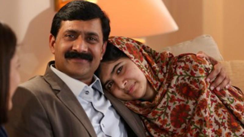 malala yousufzai with father Ziauddin Yousufzai