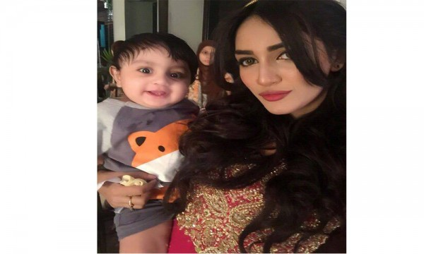 Mathira with Son Aahil
