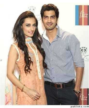 Pakistani actor Shehzad Sheikh with sister Moomal Sheikh