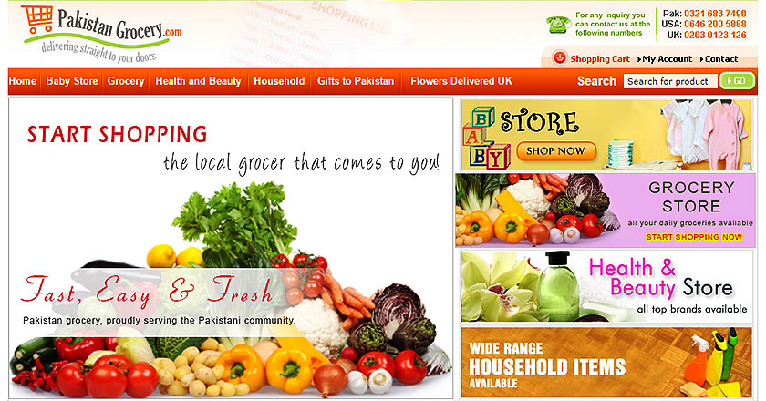 online grocery shopping list with prices