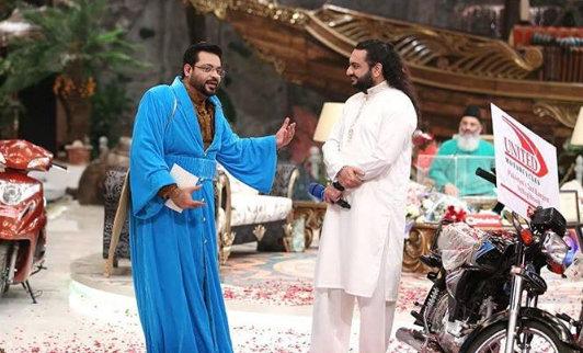 amir liaquat & tahir shah on Inaam Ghar Geo TV